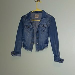 High low denim jacket
